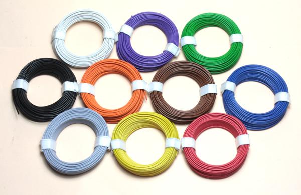 (0,10 €/m) 10 x 10 m Litze 0,14 mm² Kupferlitze Schaltlitze Kabel