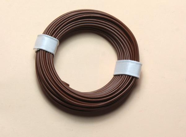 (0,11 €/m) 10 m Litze  braun 0,14 mm² Kupferlitze Schaltlitze Kabel