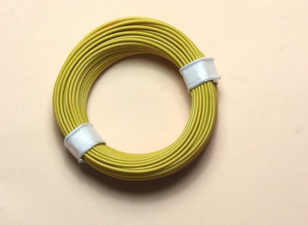 (0,11 €/m) 10 m Litze gelb 0,14 mm² Kupferlitze Schaltlitze Kabel