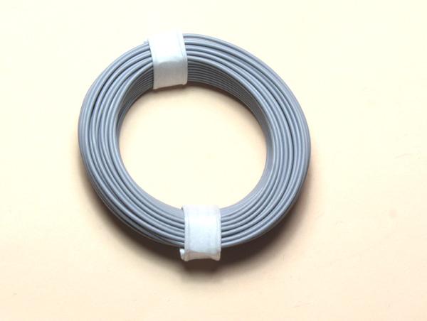 (0,11 €/m) 10 m Litze grau 0,14 mm² Kupferlitze Schaltlitze Kabel