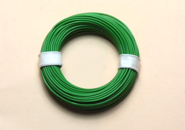 (0,11 €/m) 10 m Litze grün 0,14 mm² Kupferlitze Schaltlitze Kabel