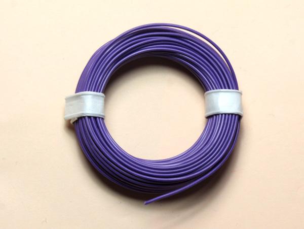 (0,11 €/m) 10 m Litze  violett 0,14 mm² Kupferlitze Schaltlitze Kabel